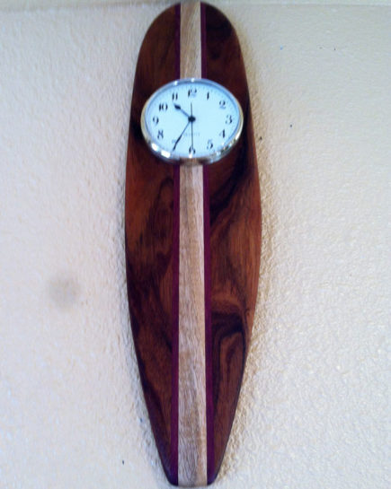 hawaiian-koa-wood-surf-board-clock-1