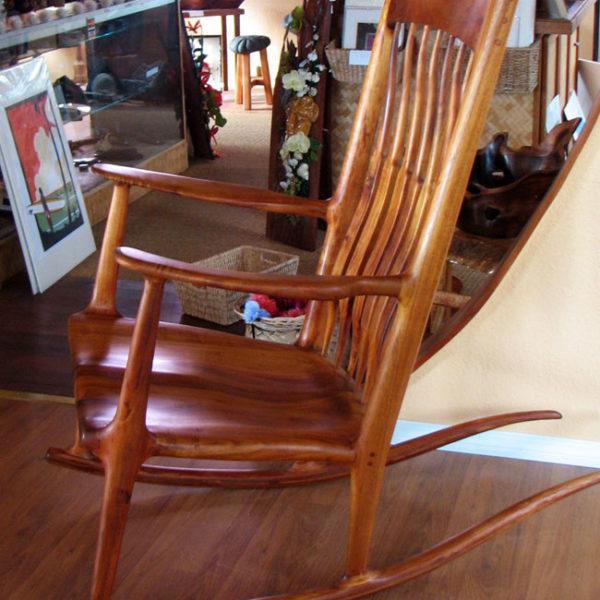 Terrific Koa Wood Rocking Chair Machost Co Dining Chair Design Ideas Machostcouk