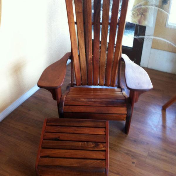 Koa Wood Lanai Chair And Ottoman